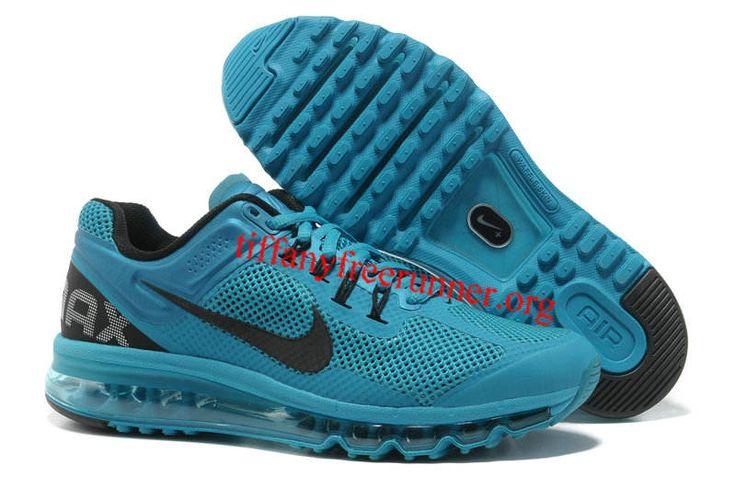 Mens Nike Air Max 2013 Blue Glow Black Shoes