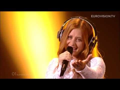 """Maraaya - Here For You (Slovenia) Eurovision 2015 / My personal faves this year. LOVED the """"wear headphones at all times"""" look, and the air violinist. <3"""