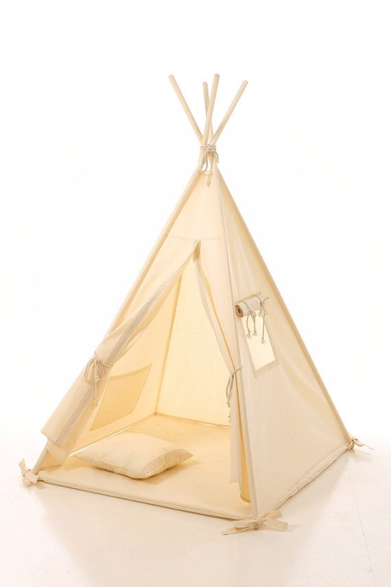 Kids teepee play tent wigwam lace, children's teepee, tipi,  tent, play teepee,  natural cotton lace tipi ,OEKO-TEX certificated materials