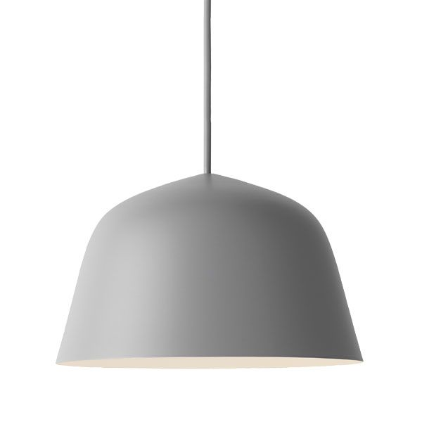 Muuto's minimalistic Ambit pendant light is made of light, press-spun aluminium. The designers, Gabriella Gustafson and Mattias Ståhlbom from TAF Architects, drew their inspiration from traditional braziers.