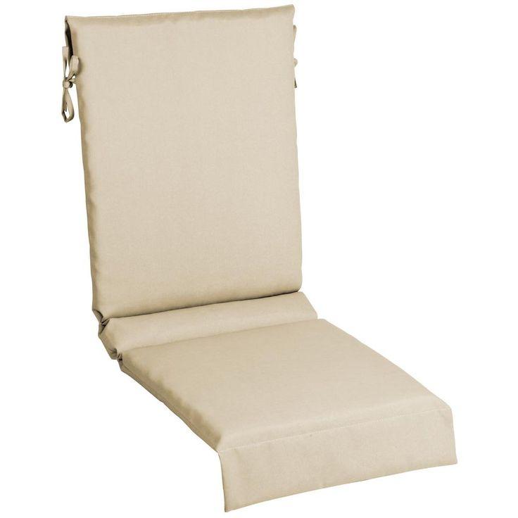 Hampton Bay Black Geo Outdoor Dining Chair Cushion