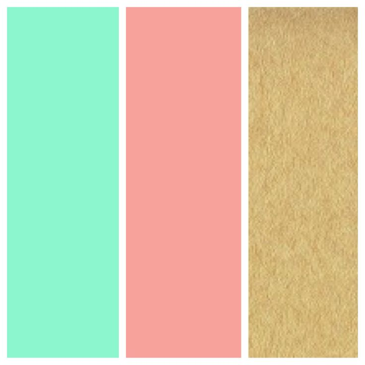 Love these as wedding colors! Mint green, coral, and gold...