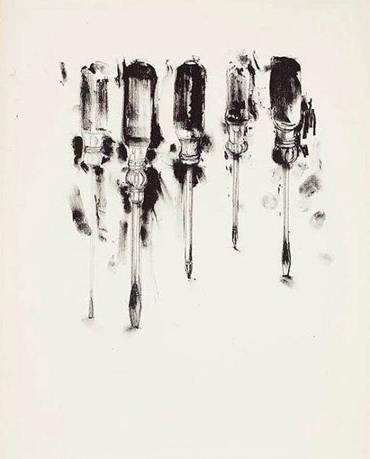 Jim Dine / arte, dibujo, herramientas