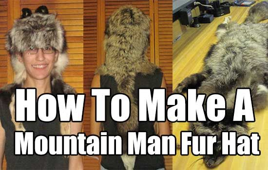 How To Make A Mountain Man Fur Hat, hunting, homesteading, project, make a fur hat, mountain man hat,