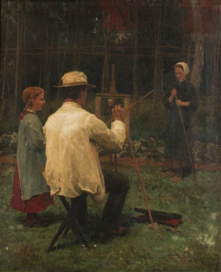 FRANS VAN LEEMPUTTEN, BELGIAN 1850-1914