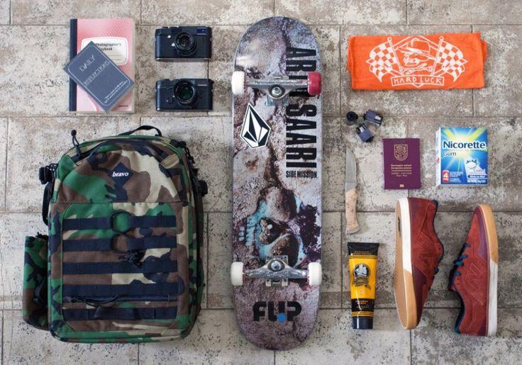 arto saari's  skateboard, leica cameras, books, new balance and more