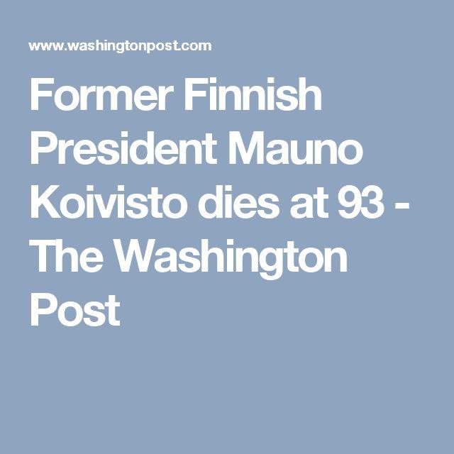 Former Finnish President Mauno Koivisto dies at 93 - The Washington Post