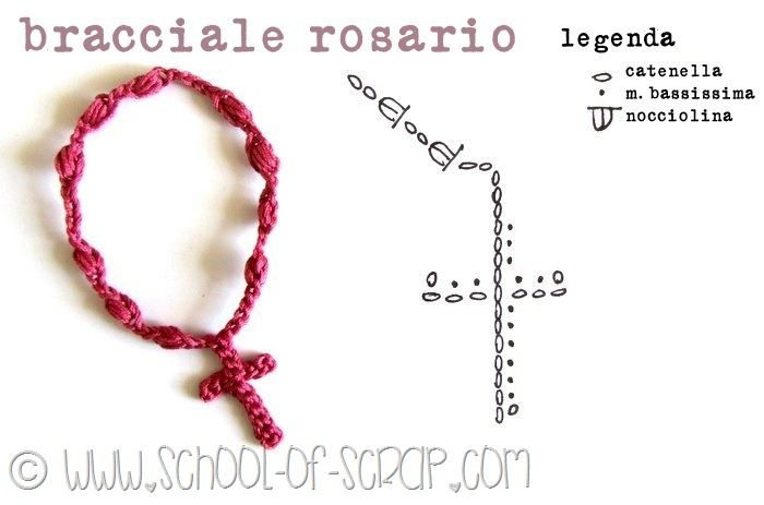 Crochet Bracelet Cross - Tutorial ❥  ༺✿ƬⱤღ✿༻