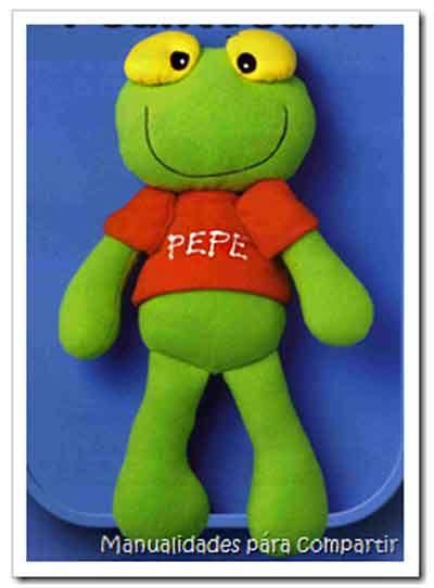 Como hacer Sapo Pepe de tela (muñeco del Sapo Pepe)