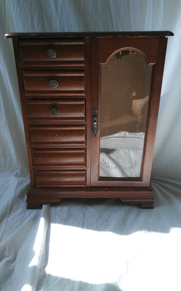 Vintage Wooden Doll Clothes Dresser Armoire Wardrobe For Restoration Repair Unbranded Armoiredresserfurniture