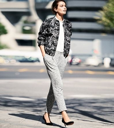 Andreea Diaconu w lookbooku H&M wiosna 2015, fot. mat. prasowe