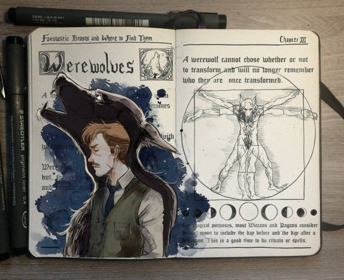 Gabriel Piccolo - Harry Potter Notebook Werewolves                                                                                                                                                                                 Plus