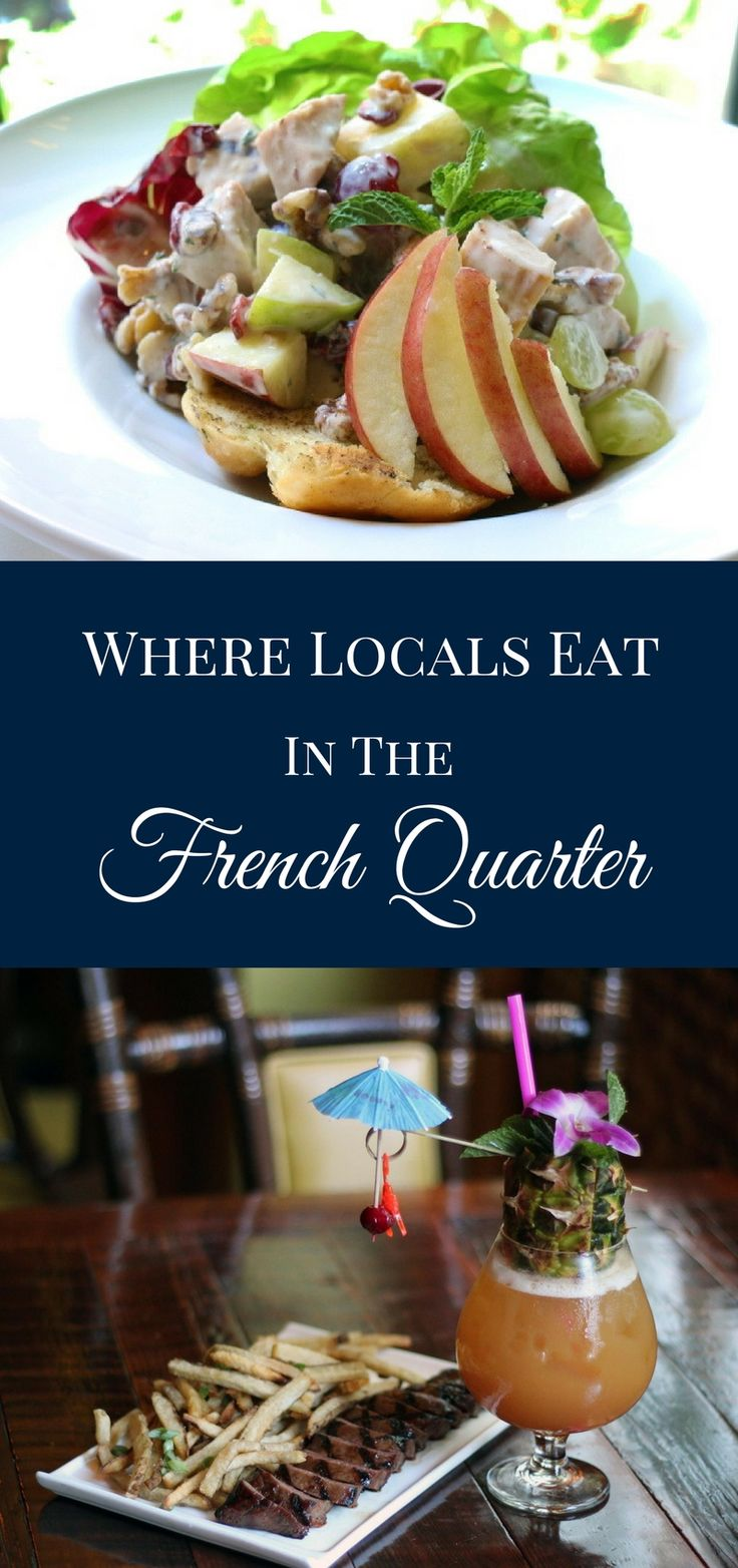 With the French Quarter in mind, here's a list of a few standout places where locals eat in New Orleans.