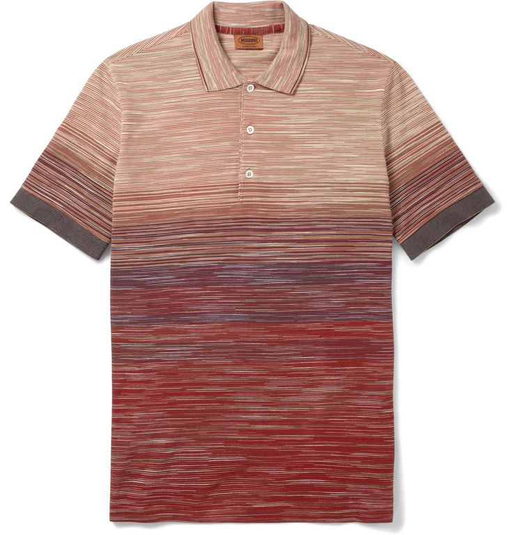 Missoni - Striped Knitted-Cotton Polo Shirt MR PORTER
