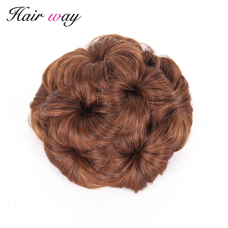 Hair Way Synthetic Curly Chignon Bun Hairpiece For Women 9 Flowers Roller Clip in Fake Hair. Click visit to buy #SyntheticExtensions