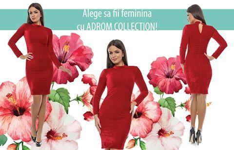 Astăzi, în stocul Adrom Collection a intrat această rochie, foarte feminină și delicată, confecționată din catifea prețioasă. Este un model cambrat pe corp, cu mâneci lungi, perfect pentru sezonul de toamnă/iarnă. Se poate asorta și accesoriza foarte ușor, iar materialul este unul foarte plăcut la atingere. Impactul pe care această rochie îl are la prima vedere, cu siguranță va atrage toate privirile!