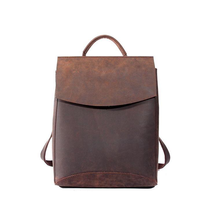 Genuine Leather Backpack Travel Backpack Messenger Bag Woman Men Unisex  Backpack