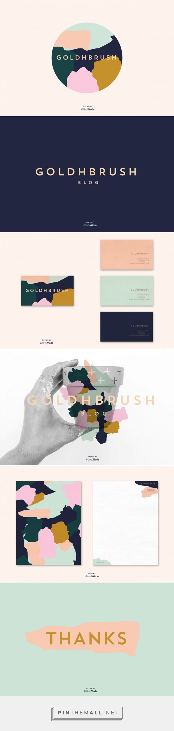 Branding for Goldhbrush Blog by The Velvet Mode in San Francisco.
