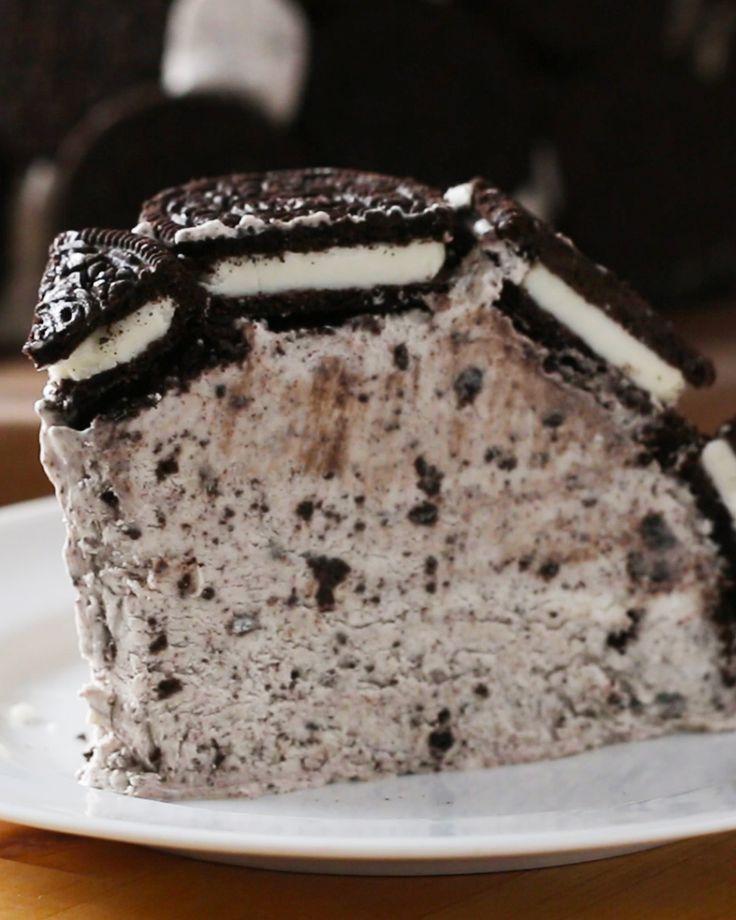 Cookies & Ice Cream Dome Cake Recipe by Tasty