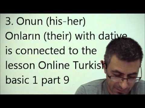 Online Turkish basic 2 part 5 dative