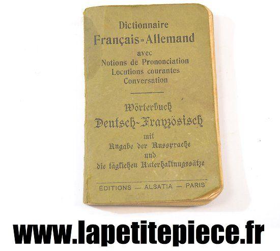 Dictionnaire Français-Allemand Alsatia Paris