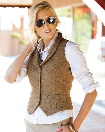 cobblestone tweed vest
