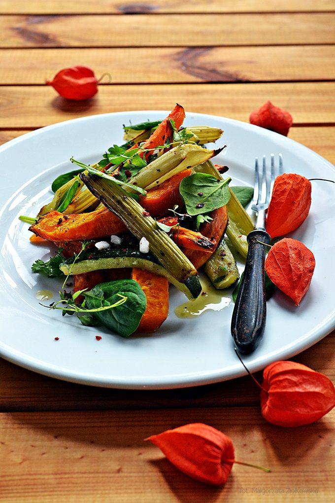 z pieczonych warzyw