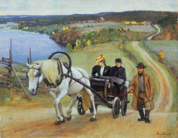 """Mäessä"" (1895) by Eero Järnefelt   (8 November 1863 – 15 November 1937), Finnish realist painter. -  http://en.wikipedia.org/wiki/Eero_J%C3%A4rnefelt"