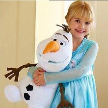 Dětské hračky Olaf Plyšová hračka panenka Sněhulák 50cm 19.7inch Kvalitní Baby Doll Tall Plyšová hračka sněhulák hračky OLAF pro dívky Boys Gift (Čína (pevninská část))