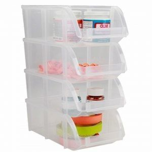Uline Clear Storage Bins