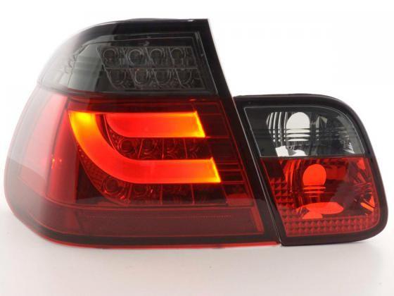 Kit de pilotos traseros LED BMW serie 3 E46 sedan 02-05 rojo/negro