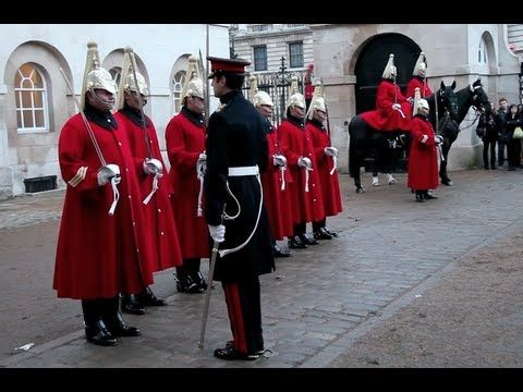 Changing the Guard -- Horse Guards Parade, London - YouTube