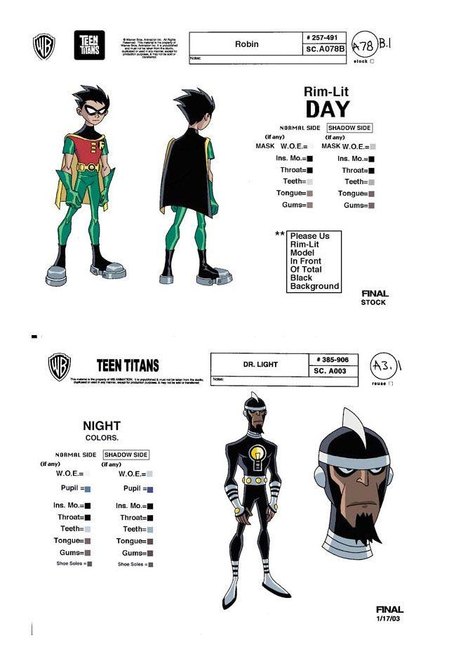 Teen Titans: model sheets e character design | THECAB - The Concept Art Blog