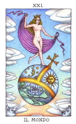 Fortuna's Wheel Tarot: The World (il mondo)