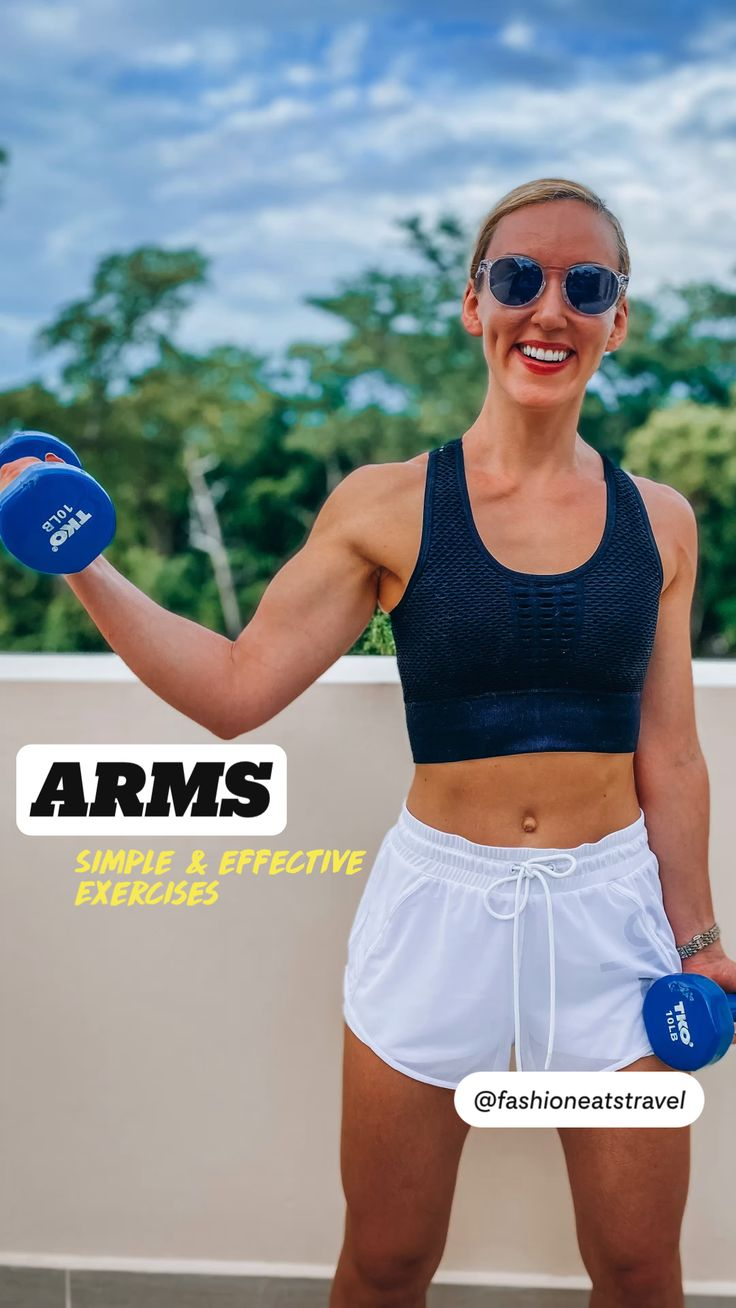 Slim Waist Workout, Dumbbell Workout, Arm Challenge, Workout Challenge, Wellness Fitness, Fitness Tips, Strong Arms, Weight Loss Workout Plan, Shoulder Workout