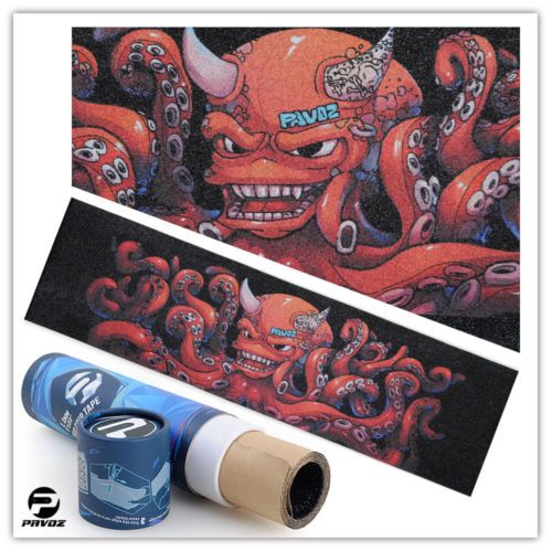 Pro skateboard grip tape #design 2.0 #pavoz #1.1mm 9x33 octopus,  View more on the LINK: 	http://www.zeppy.io/product/gb/2/381793445231/