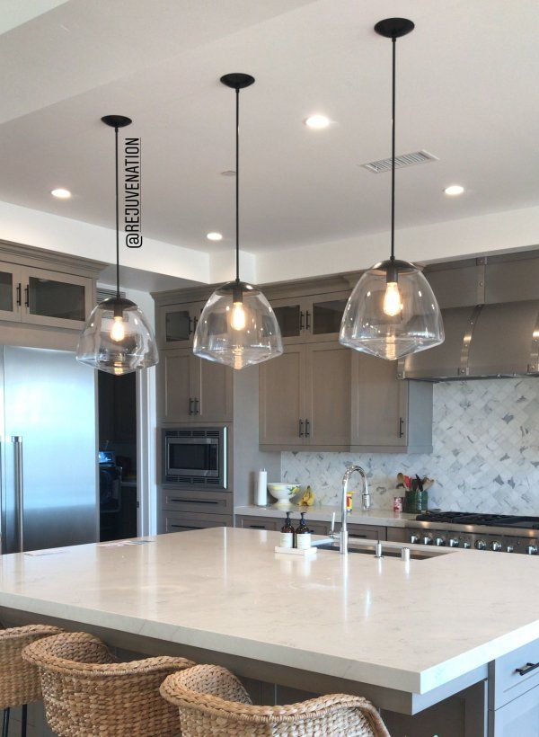 3 Pendants Over Kitchen Island