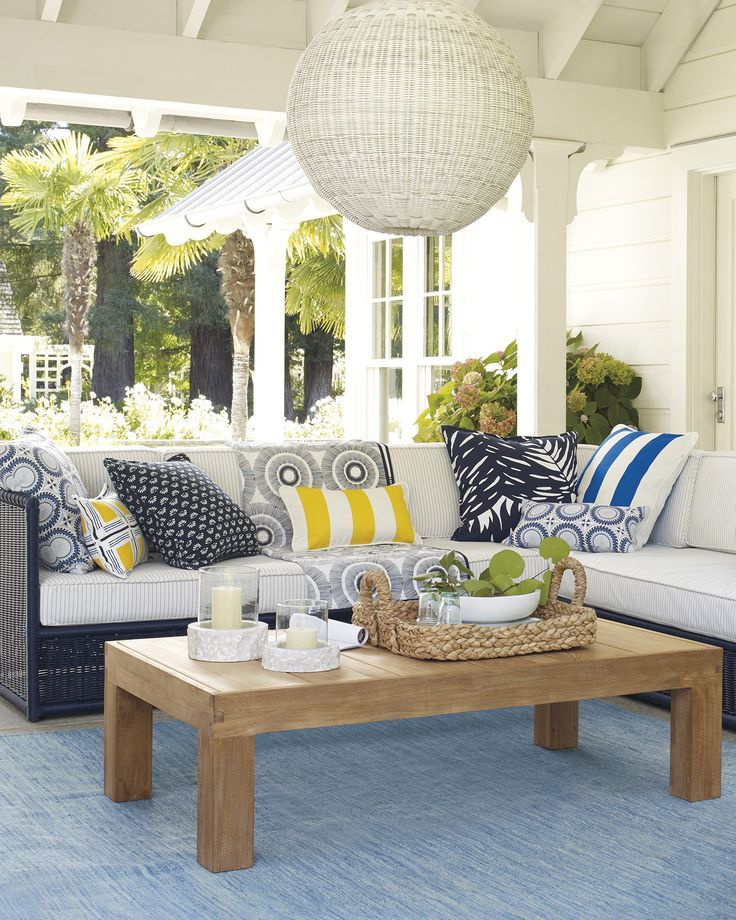 Ocean Park Coffee Table Decor Patio Decor Outdoor Patio Decor