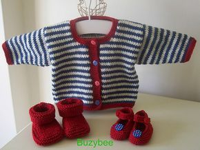 Ravelry: Nautical Baby Cardigan pattern by Patricia Evans