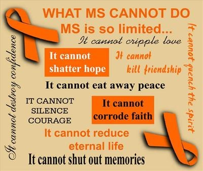 "Multiple Sclerosis Awareness, and remembering my sister and friend's struggle, however ""invisible"" it may be."