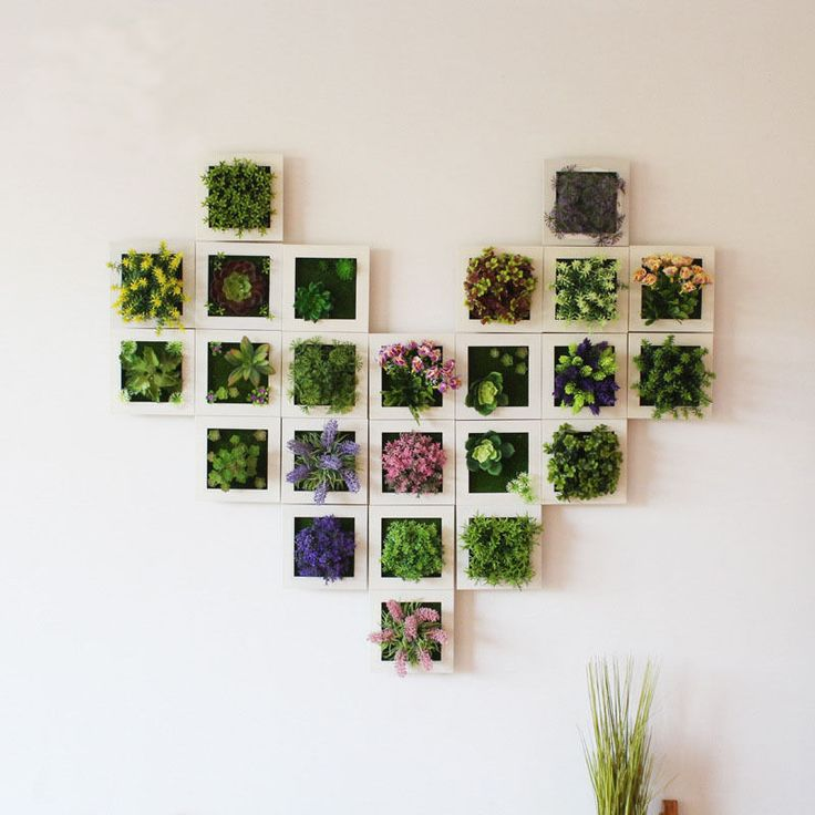 Details about Plant Photo Frame Wall Stick Decoration Artificial Flower Home Decoration 3D