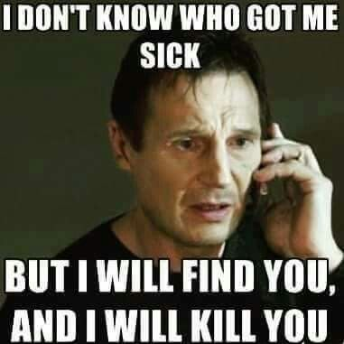 I hate having a cold