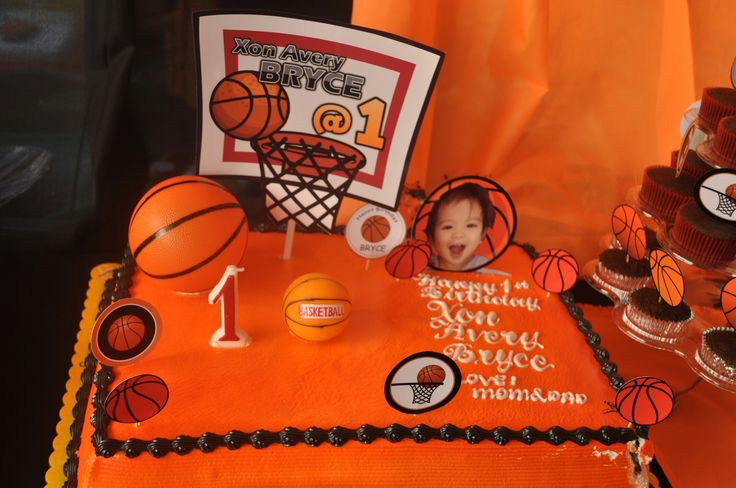 Basketball cake Goldilocks cake size 16x12 and we pay 40 pesos to make orange and black icing (20 for each color) and we make some basketball layout to print out. Add balls for decoration