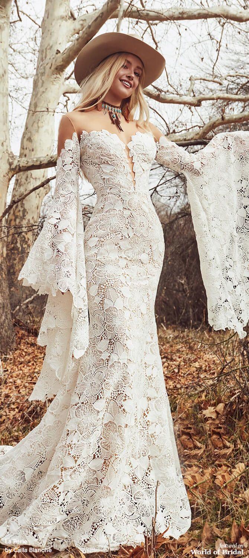 La Perle By Calla Blanche Fall 2020 Bridal Collection Wedding Dress Long Sleeve Bell Sleeve Wedding Dress Wedding Dress Store