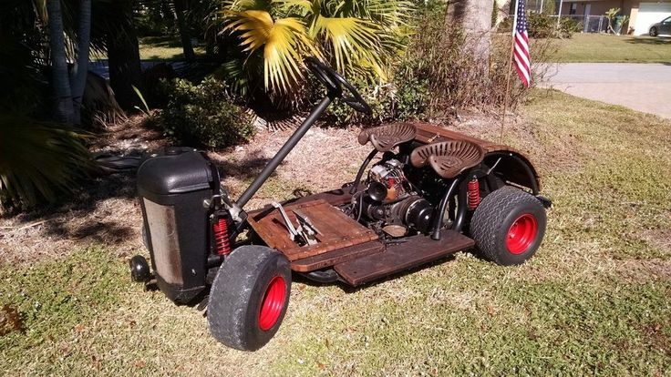 Rat Rod Golf Cart---Custom Yamaha gas powered ONE OFF in eBay Motors, Other Vehicles & Trailers, Electric & Gas Golf Cars | eBay