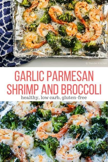 Garlic Parmesan Roasted Shrimp and Broccoli | Winter | Holiday | Dinner | Gluten Free | Shrimp | Broccoli | Low Carb #healthyrecipes #slenderkitchen #shrimp #dinner #glutenfree #lowcarb