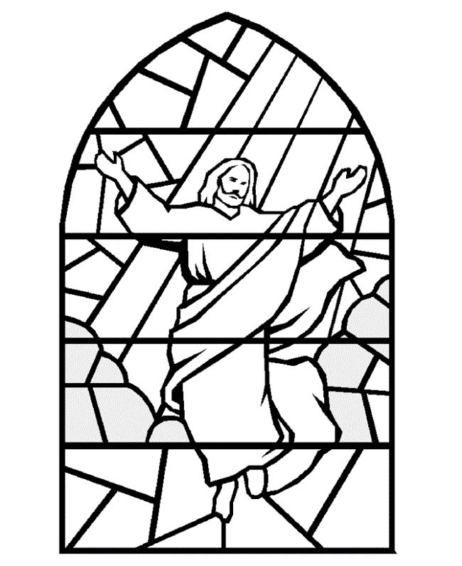 bible christmas coloring stained glass jesus religious coloring pages
