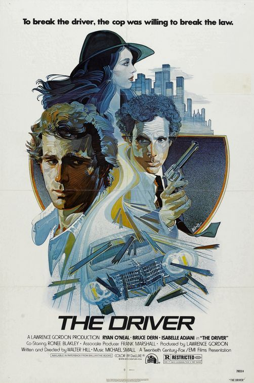 "The Driver (1978) - poster by Bob Peak (I think, though the signature looks like ""M. Daily"")"