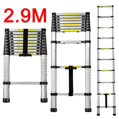 Get DSHA New Hot Extendable Telescopic Ladders 4 sizes Available Free Carry Bag #DSHA #Extendable #Telescopic #Ladders #sizes #Available #Free #Carry