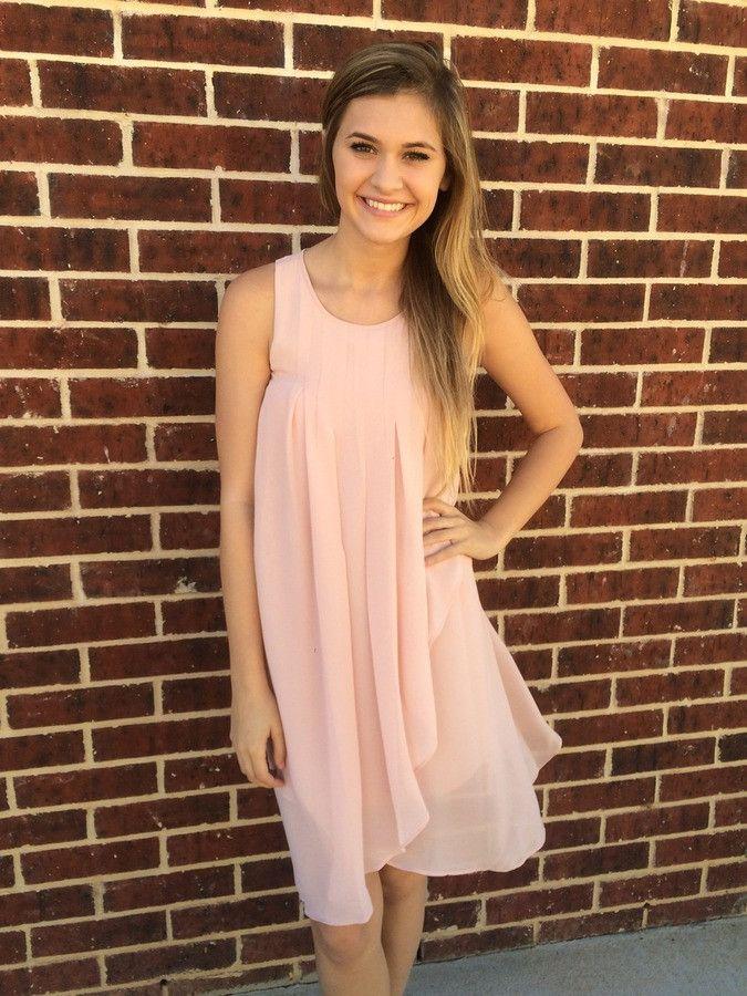 Rose Pink Pleated Dress - BCBGeneration